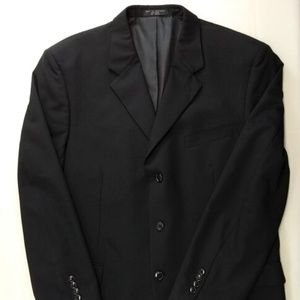 Jones New York Mens 43R Blazer Suit Jacket Black W